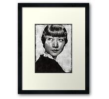 Anna May Wong Vintage Hollywood Actress Framed Print