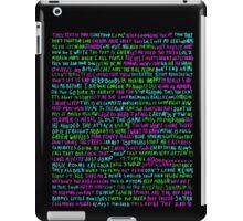 words never miss iPad Case/Skin