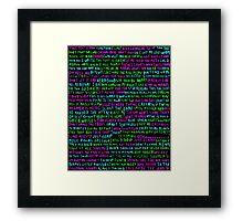 words never miss Framed Print