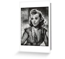 Celeste Holm Hollywood Actress Greeting Card