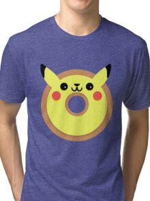 Pikachu Pokemon Donut Tri-blend T-Shirt