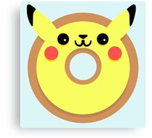 Pikachu Pokemon Donut Canvas Print