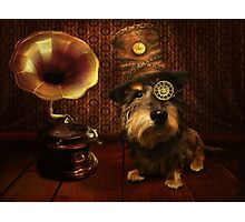 Steampunk Dashound Photographic Print