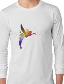Tinkerbell in watercolor Long Sleeve T-Shirt