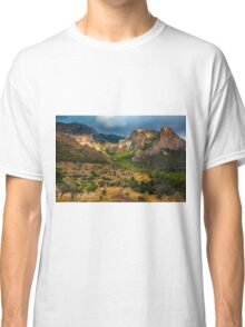 Light breaks on the mountain and trees Classic T-Shirt