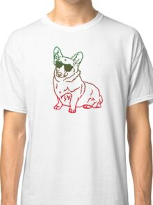 Corgi glass Classic T-Shirt