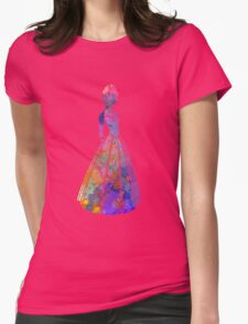 Anna in watercolor Womens Fitted T-Shirt