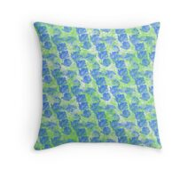 Bright and Bold Watercolor Pattern Throw Pillow