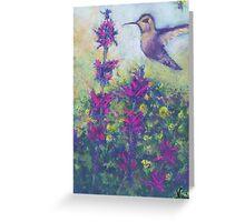 Hummingbird (pastel) Greeting Card