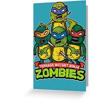 Teenage Mutant Ninja Zombies Greeting Card