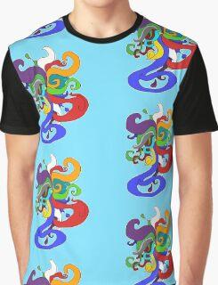 Swirl splash print Graphic T-Shirt