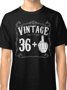Vintage middle finger salute 37th birthday gift funny 37 birthday 1979 Classic T-Shirt