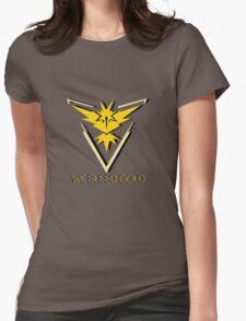 Team Instinct - We Bleed Gold Womens Fitted T-Shirt