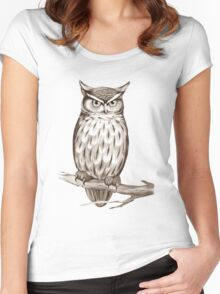 Wise Owl Women's Fitted Scoop T-Shirt