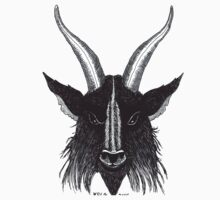 Black Goat Head Baphomet Kids Tee