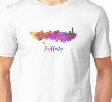 Buffalo skyline in watercolor Unisex T-Shirt