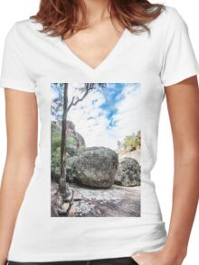 The Rocks Women's Fitted V-Neck T-Shirt