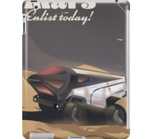 Mars, Enlist today! Retro Military space poster. iPad Case/Skin