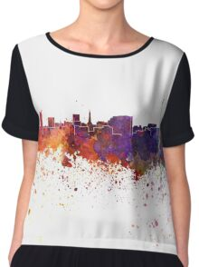 Dortmund skyline in watercolor background Chiffon Top