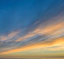 Evening Sky over Nash Point Sticker