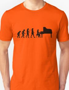 Women's Piano T Shirt Evolution Of The Pianist  Unisex T-Shirt