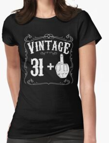 Vintage middle finger salute 32nd birthday gift funny 32 birthday 1984 Womens Fitted T-Shirt