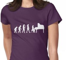 Funny Pianist Women's Silhouette Shirt Womens Fitted T-Shirt