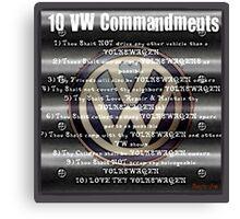 VW Commandments Canvas Print