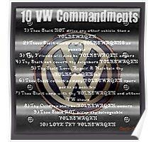 VW Commandments Poster