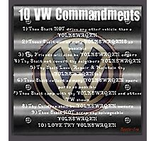 VW Commandments Photographic Print