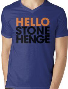 Hello Stonehenge Logo Mens V-Neck T-Shirt