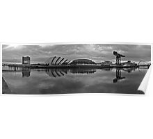 Glasgow - River Clyde Panorama Poster