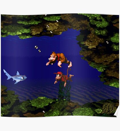 Donkey Kong Country - Coral Capers Poster