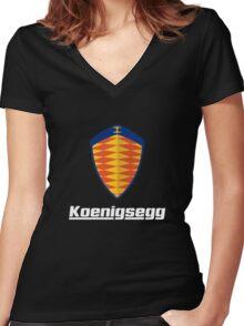 koenigsegg one Women's Fitted V-Neck T-Shirt