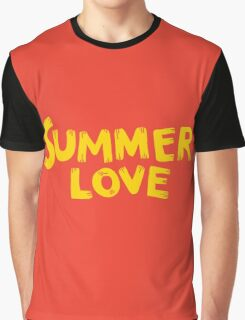 Summer love lettering expression Graphic T-Shirt