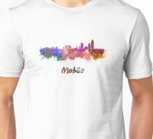 Mobile skyline in watercolor Unisex T-Shirt