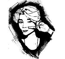 BTS Jimin sketch - RED version Photographic Print