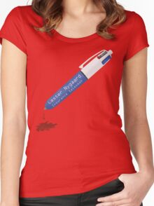 Fargo Pen of Lester Nygaard Dripping Red Ink Women's Fitted Scoop T-Shirt