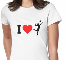 I Love Volleyball Womens Fitted T-Shirt