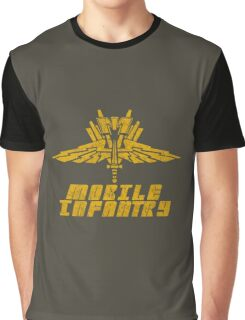 Starship Troopers Mobile Infantry crest grunge Graphic T-Shirt