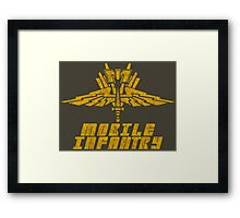 Starship Troopers Mobile Infantry crest grunge Framed Print