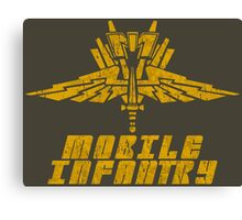 Starship Troopers Mobile Infantry crest grunge Canvas Print