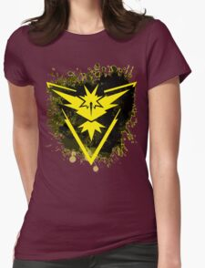 Yellow Team Womens Fitted T-Shirt