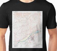 USGS TOPO Map Arizona AZ Parker 312781 1970 24000 Unisex T-Shirt