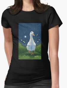 Mr. Donald on the night walk - acrylic Womens Fitted T-Shirt