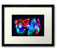 multiple light fans Framed Print