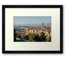View of Florence Framed Print
