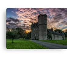 Castle Fraser and Gardens at Sunset - Aberdeenshire Canvas Print