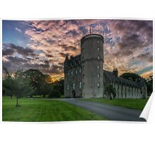 Castle Fraser and Gardens at Sunset - Aberdeenshire Poster