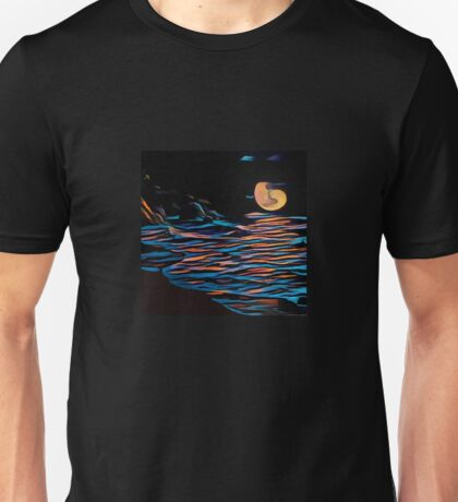 Moon over Beach Unisex T-Shirt
